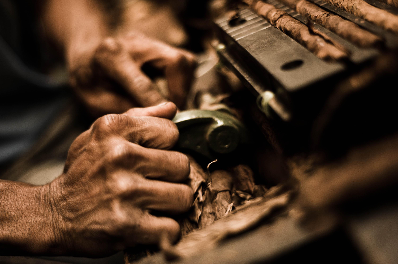 Handmade cigar production, process. Tabacalera de Garcia Factory