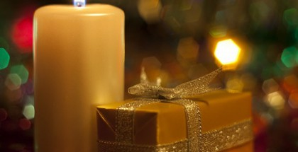 Candle  and  gift.