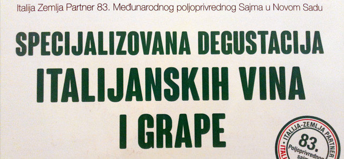 Novosadska Specijalizovana Degustacija Italijanskih Vina I Grape